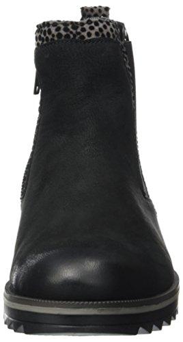 Remonte R2280-02, Damen Chelsea Boots Schwarz (schwarz/grau/schwarz / 02)