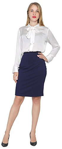 Marycrafts Women's Work Office Business Pencil Skirt L Dark Blue by Marycrafts