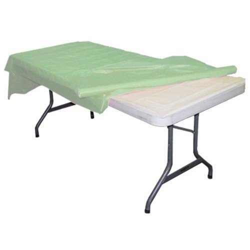 Exquisite Plastic Tablecloth Roll, Disposable Table Cover Roll, Covers 12 Tables, 40 in. x 100 Ft.- Mint Green (Mint Green Tablecloth)