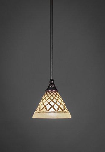 Concord Ceiling Pendant - Filament Design Concord 1-Light Black Copper Incandescent Ceiling Pendant