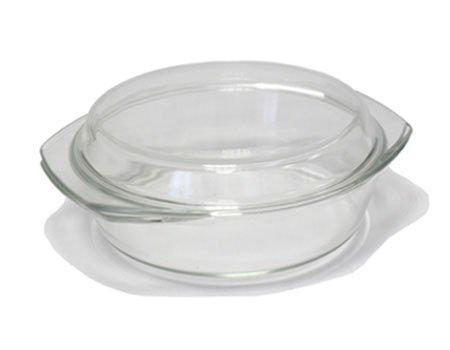 Fuente para horno con tapa de cristal resistentes 2,5 L. de ...