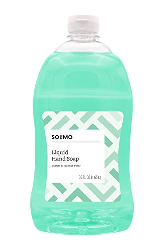 Amazon Brand - Solimo Liquid Hand Soap Refill, Mango and Coconut Water, 56 Fluid ()