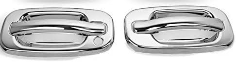 MaxMate Fit 00-06 GMC Yukon//99-06 Sierra//07 Classic//02-06 Chevy Avalanche//99-06 Silverado//07 Classic//00-06 Suburban//Tahoe//02-06 Cadillac Escalade Chrome 4 Doors Handle Cover W//O Passenger Side Keyhole