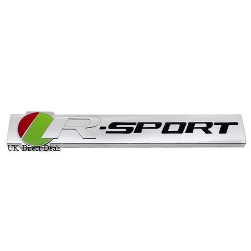 UK-Direct-Deals Ltd R Sport Badge Autocollant Embl/ème pour Jaguar XJ XF XE F Rythme de Coffre arri/ère Trunk Tailgate c/ôt/é Aile Fender Compatible avec Tous Les mod/èles