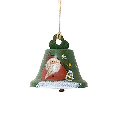 - Brave669 Christmas Tree Painted Iron Bell Hanging Pendant Ornament Door Window Decoration