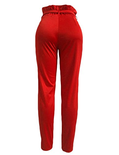 Accogliente Pantaloni Lunga Tempo Vita Harem Pants Estivi Pantalone Pantaloni di Cintura Moda Libero Eleganti Donna marca Inclusa Primaverile Rot Pantaloni Mode Pieghe Alta Pantaloni Con Waist Tasche rrwTaBqR