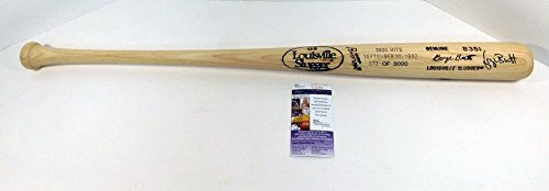 George Brett Autographed Signature Louisville Slugger Baseball Bat 3000 Hits 9 30 92 - JSA Authentic (George Brett Autographed Baseball)