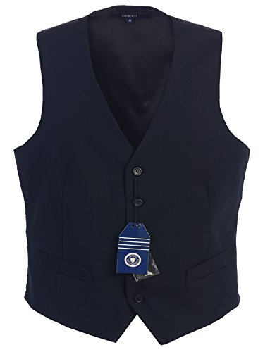 Gioberti Mens 5 Button Formal Suit Vest, Navy, 2X-Large (2 Vest)