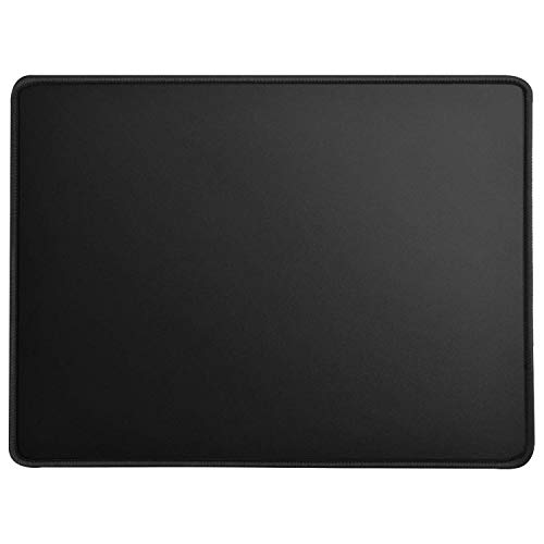 MROCO Large Gaming Mouse Pad with Stitched Edges, Non-Slip Rubber Base, Premium-Textured, Waterproof Mousepad Mouse Mat Mouse Pads for Gamer, Computer, Laptop & Desktop 14 x 11 x 0.12 inches, Black