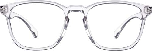 Zenni - Blokz Blue Blocker Computer Glasses | UV Filters Reduce Eyestrain |  Clear Frame | Square Universal Bridge Fit | Model 2020123