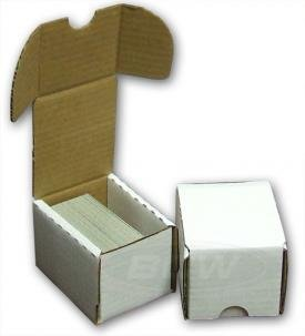 BCW 100 Count (Bundle of 50) Corrugated Cardboard Storage Box - Baseball, Football, Basketball, Hockey, Nascar, Sportscards, Gaming & Trading Cards Collecting (Ebay Baseball Cards)