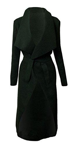 Italien KARDASHIAN cascade longue Cardigan Manteau femme Noir Kim CELEBRITY ceinture Jewellery Veste Cape qqgFrBwA