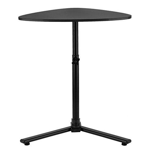 Steel Bed Pedestal (Simple Medium Density Board&Carbon Steel Notebook Computer Standing Table Laptop Desk Adjustable Desk Bed Sofa Stand Tray Table)