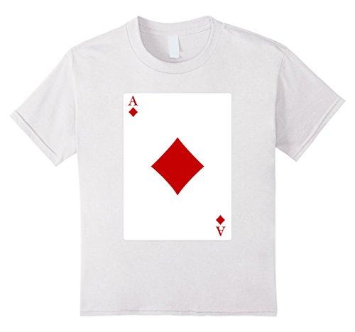 [Kids Deck Of Cards Halloween Ace of Diamonds Group Costume Shirt 8 White] (Homemade Group Halloween Costumes Girls)
