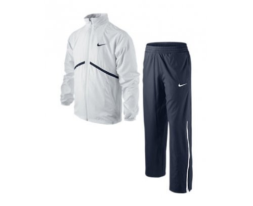 NIKE N.E.T. Woven Boys Junior Tennis Warm-Up Tracksuit, Black/White, Age 8-10/S by Nike (Image #2)