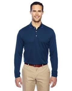adidas Golf Mens Climalite Long-Sleeve Polo (A186) -Navy/White -L