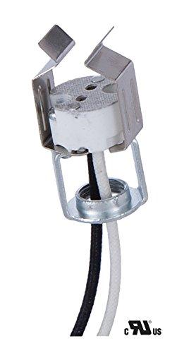 B&P Lamp Porcelain Bi-Pin Halogen Socket with MR-16 - Socket G4 Clip