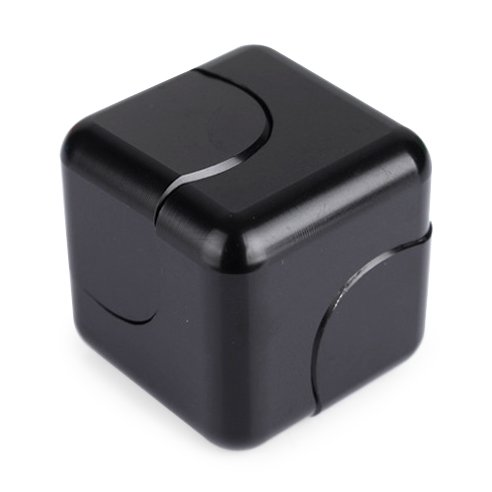 Price comparison product image Vteyes Fidget Spinner Cube Design 2017 Newest Spinner Made Premium Metal Stainless Steel Detachable Bearings Stress Reliever Toy and Gift for Kids and Adults, Black