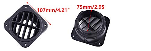 CITALL 75mm rotating car heater pipe warm vents Fit For Eberspacher Webasto Propex