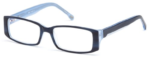Womens Rectangular Glasses Frames Blue Prescription Eyeglasses Rxable 51-16-135