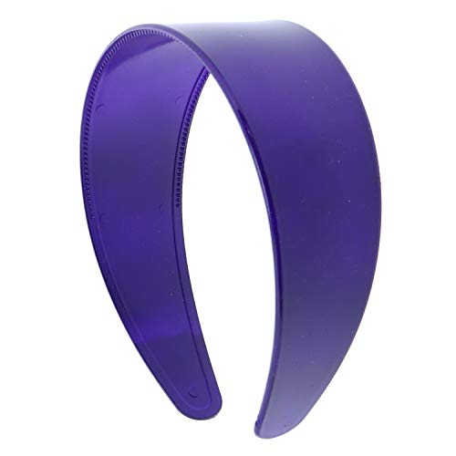 Purple 2 Inch Hard Plastic Headband with Teeth Women and Girls wide Hair band (Motique Accessories)]()