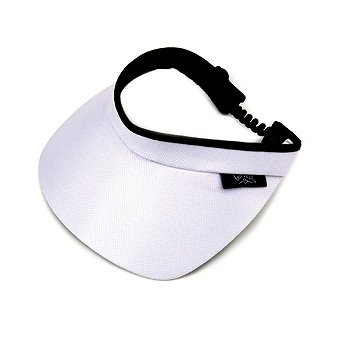 Cotton Twill Visor - GloveIt Women's Visor (White)