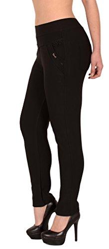noir H275 Femme Skinny Treggings Haute Pantalons Femmes la Taille Femmes ESRA H275 Taille de surdimensionne f61q41w