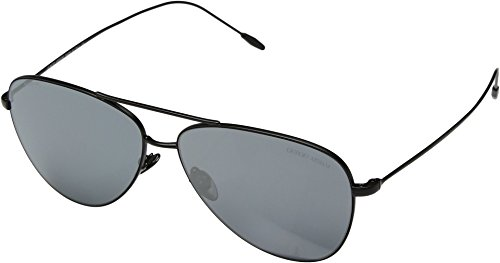 Giorgio Armani Mens Sunglasses Black Matte/Grey Metal,Steel - Non-Polarized - - Giorgio Armani Aviator Sunglasses