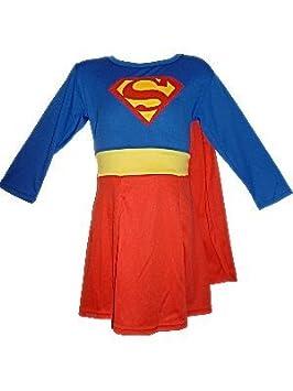 a9561f1819688 Doo Lim Déguisement Supergirl à manches longues pour enfant 5 pièces 3-4 ans