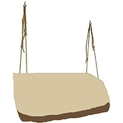 "boyspringg Hanging Swing Cover Patio Hammock Glider Cover Porch Swing Canopy Replacement Cover Patio Furniture Cover for Garden Courtyard 56""Lx32""Wx25""H : Garden & Outdoor"