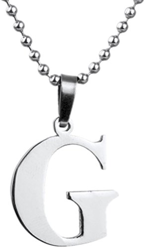 Golastartery Stainless Letter Necklace Pendant product image