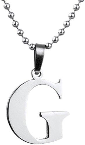 Golastartery Stainless Letter Necklace Pendant