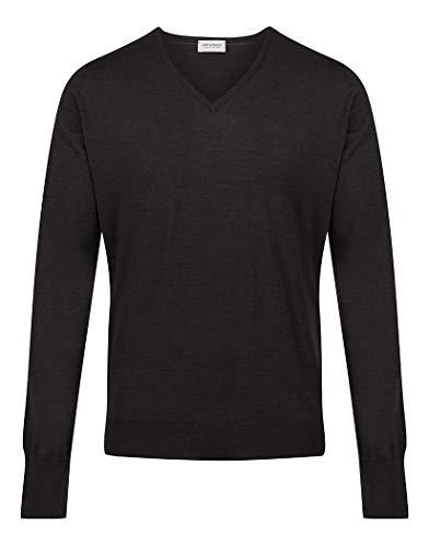 John Smedley Bobby V Neck Sweater Small Hepburn Smoke