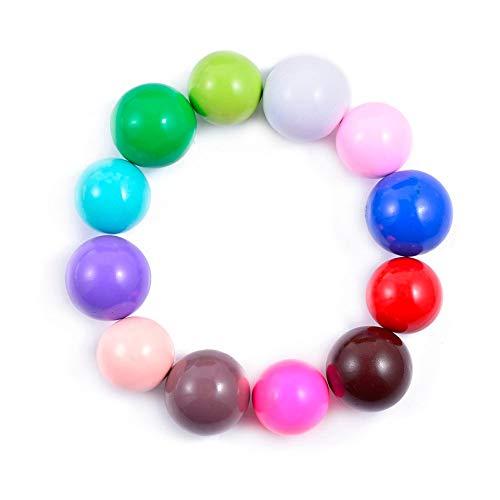 Calvas 10Pcs Assort Color Copper Plated Sound Balls for Mom-to-be DIY Pendant Wholesale - (Item Diameter: Random Color -