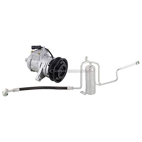 AC Compressor w/A/C Drier For Jeep Grand Cherokee 2002 2003 2004 - BuyAutoParts 60-86290R2 NEW