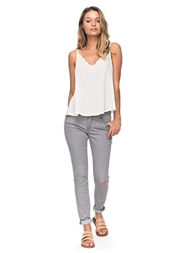Bleached Skinny Jeans - Roxy Junior's Come Show up Denim Pant, Bleached Grey, 24