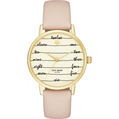 Kate Spade KSW1059 Ladies Metro Brown Leather Strap Watch