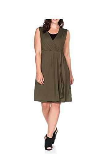 Sheego - Vestido - para mujer verde oliva