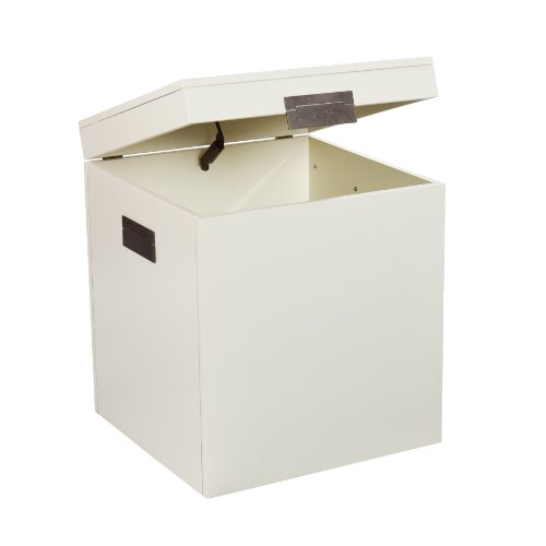 SEI Aspen Trunk End Table, White