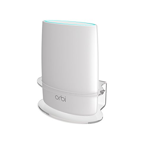 Netgear Orbi Wall Mount, BASSTOP Sturdy Clear Acrylic Wall Mount Bracket for NETGEAR ORBI AC3000/AC2200 Tri Band Home WiFi Router- (1 Pack) by BASSTOP (Image #8)'