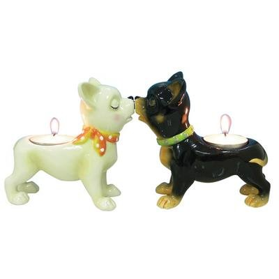 Mwah Chihuahua Tealight Holders by Westland Giftware