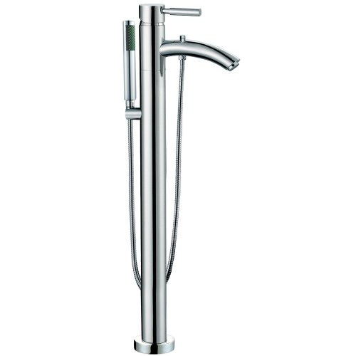 - Wyndham Collection Taron Modern-Style Bathroom Tub Filler (Floor-mounted) in Polished Chrome