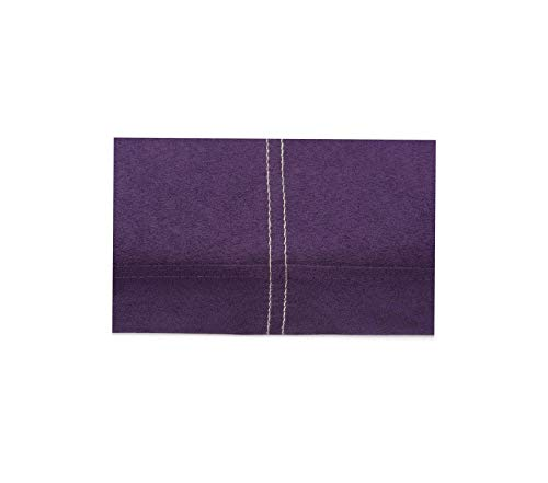 Frеsh Hоmе Еlеmеnts Premium Group Microsuede Folding Storage Ottoman Bench, 30 by 15 by 15 Inches, Purple