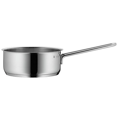 WMF Mini Stielkasserolle, 14 cm, klein, ohne Deckel, Kochtopf 0,9l, kleiner Topf für Singlehaushalt, Cromargan Edelstahl poliert, Induktion, stapelbar, ideal für kleine Portionen