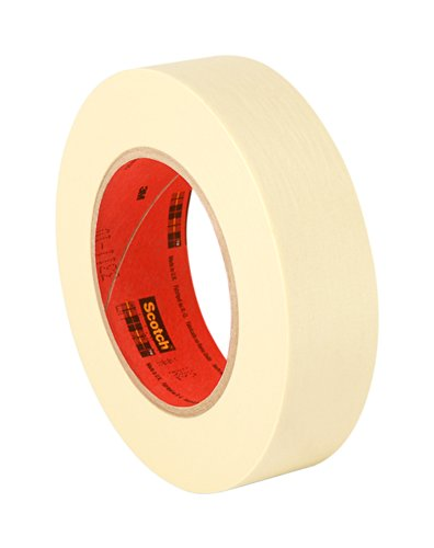 3M 2380 Performance Masking Tape, 1.75'' x 60 Yard Roll, Crepe Paper, Tan by 3M