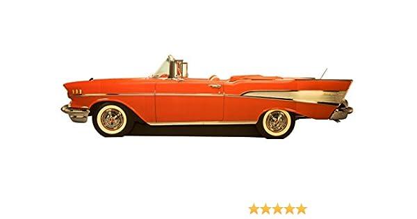 Chevrolet Bel Air 1957 Classic Car Cutout Sign Chevy Garage Decor 24 x 10