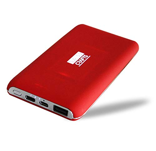 Price comparison product image Swiss Crafts Illuminating Wireless POWERBANK with Suction, PowerCore 8000mAh - External Batteries, Ultra-Compact, High-Speed Charging Technology Power Bank for iPhone, Samsung Galaxy and More (Red)