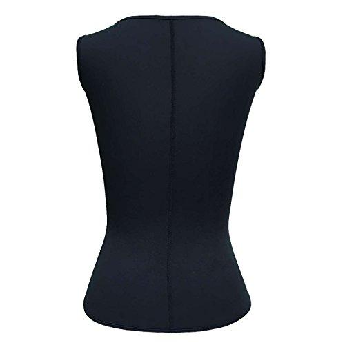 Women's Neoprene Sauna Suit Tank Top Vest with Adjustable Shaper Waist Training Belt