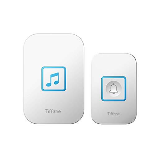 Tiffane Wireless Electric Door Bell1000 Feet Operate 60 ChimesAdjustable Volume for HomeStore