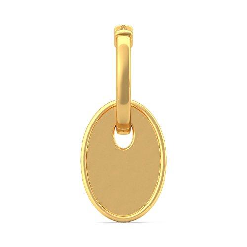 Or jaune 18K 0,19CT TW White-diamond (IJ   SI) Boucles d'oreilles créoles